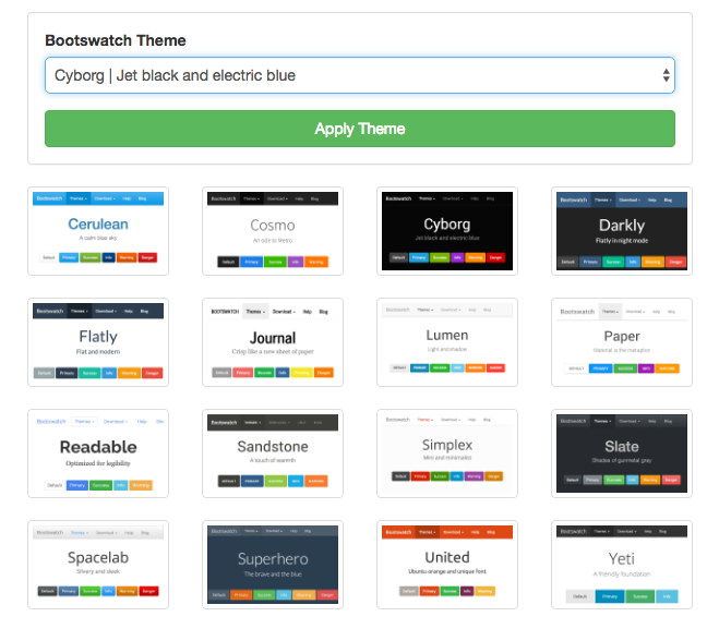 Bootswatch Theme Preview Google Chrome Extension – Vince Chan's Blog